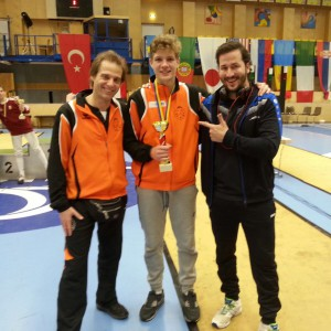 ECC Mödling  15-11-2015 brons met trainers