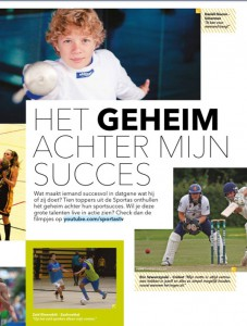 quote in SportAs Magazine januari 2014
