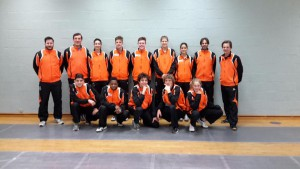 trainingsstage Floret EJK selectie met Belgen 20-2-2016 groepsfoto