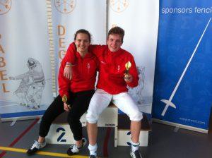 NJK 23-4-2016 met Aliya Dhuique-Hein winnaar bij dames floret cadetten