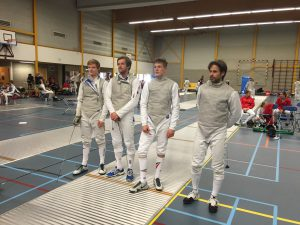 SCA Equipe 2016 Dirk Jan van Egmond, Max Janssen, Daniël Giacon, Matthijs Rohlfs