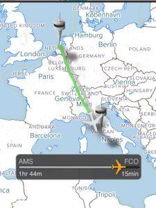 Vluchtroute naar Rome
