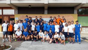 Groepsfoto met Azzurrini in Formia 2 september 2016