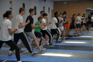 Trainingsstage NL Floret Team in Groningen 9-11 september 2016. Voetenwerk